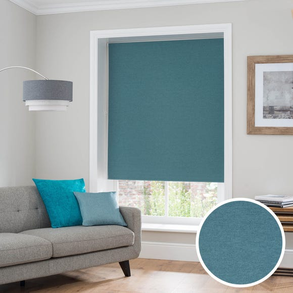 Luna Teal Blackout Roller Blind Teal (Blue) undefined