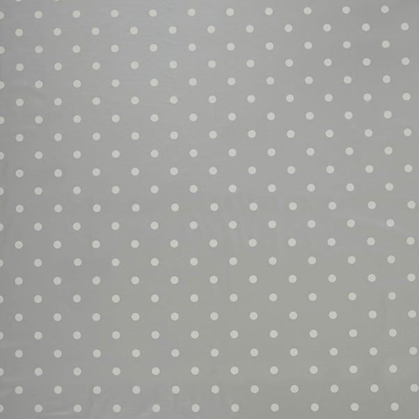 Silver Polkadot PVC Silver