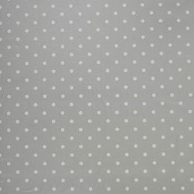 Silver Polkadot PVC
