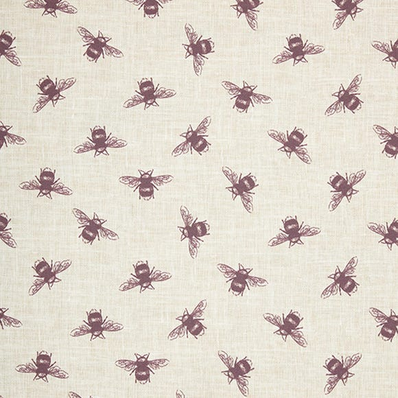Bees Purple Cotton Fabric