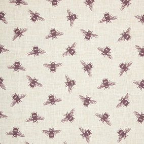 Bees Purple Cotton Fabric