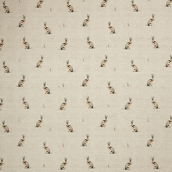 Hartley Hare Natural Cotton Fabric Natural
