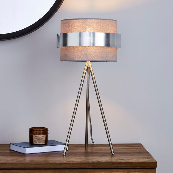 Joey Tripod Grey Table Lamp Grey