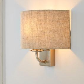 Preston Ivory Linen Shaded Wall Light