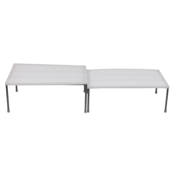 Pack of 2 Expandable Shelves White