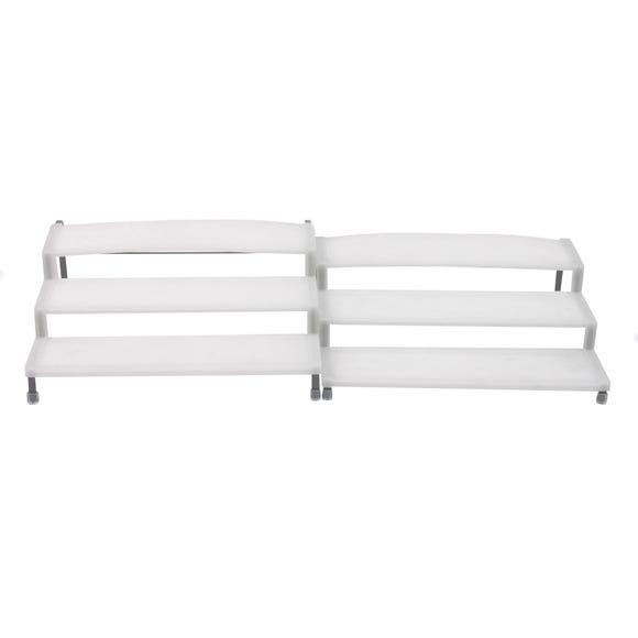 Pack of 2 Expandable Cupboard Organisers White