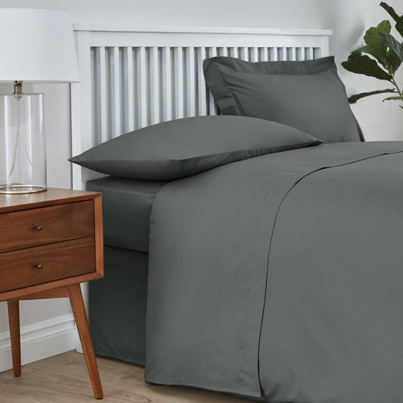 Easycare Cotton 180 Thread Count Flat Sheet Graphite (Grey) undefined