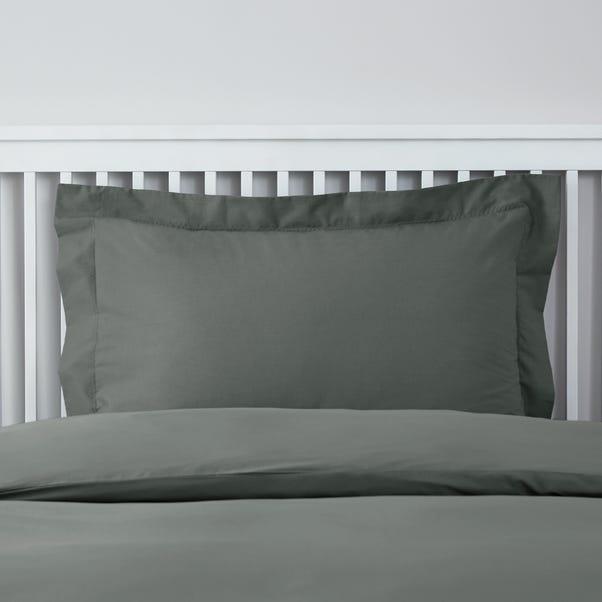 Easycare Plain Dye Graphite Oxford Pillowcase Graphite (Grey)