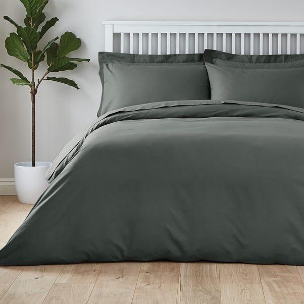 Easycare Plain Dye 100% Cotton Graphite Duvet Cover  undefined