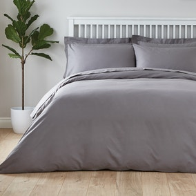 Easycare Plain Dye 100% Cotton Dove Grey Duvet Cover