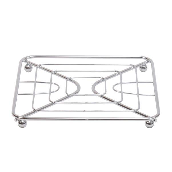 Chrome Single Pan Trivet Silver