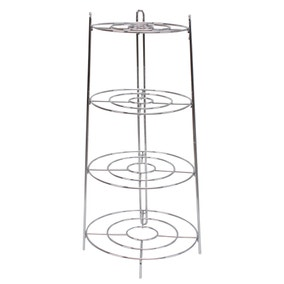 Chrome Plated 3 Layer Pan Stand
