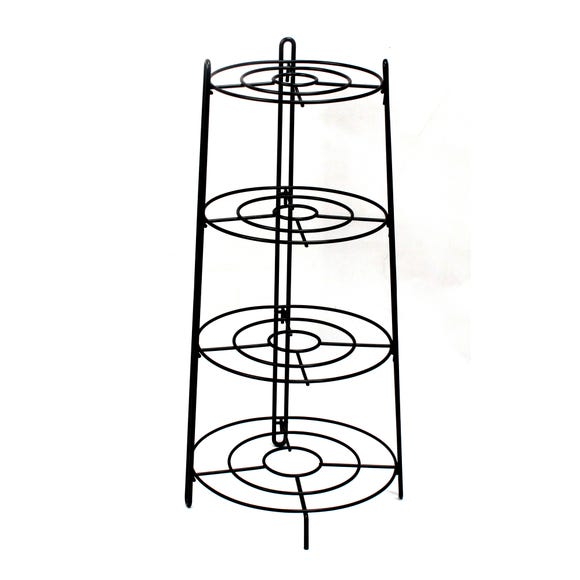 Black Plated 3 Layer Pan Stand Black