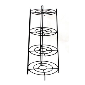 Black Plated 3 Layer Pan Stand