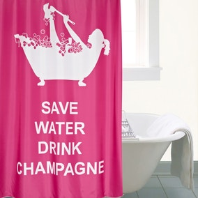 Drink Champagne XL Shower Curtain