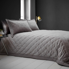 Valentina Velvet Silver Bedspread