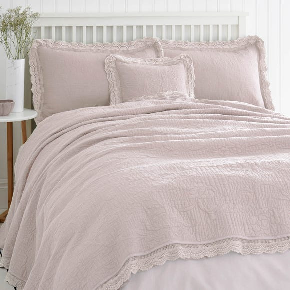 Lace Edge Blush Bedspread  undefined