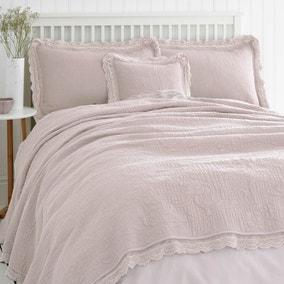 Lace Edge Blush Bedspread