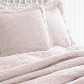 Lace Edge Blush Pillow Sham