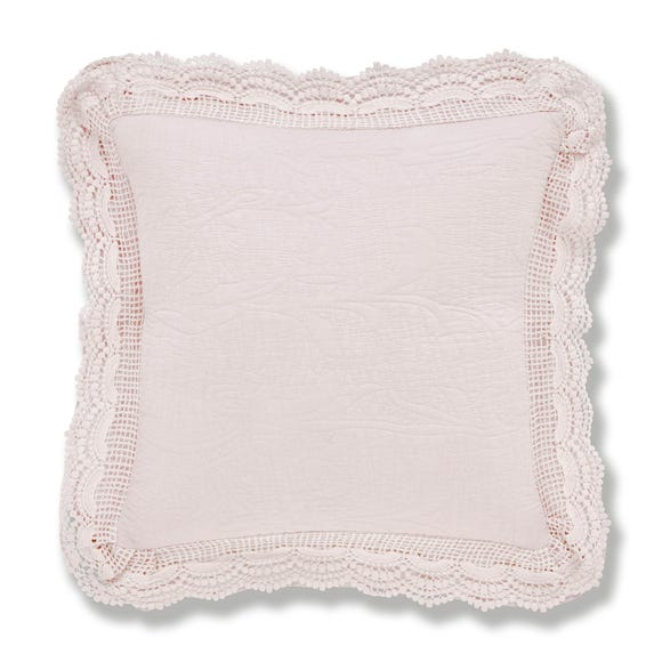 Lace Edge Blush Cushion Blush (Pink)