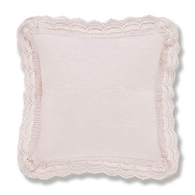 Lace Edge Blush Cushion
