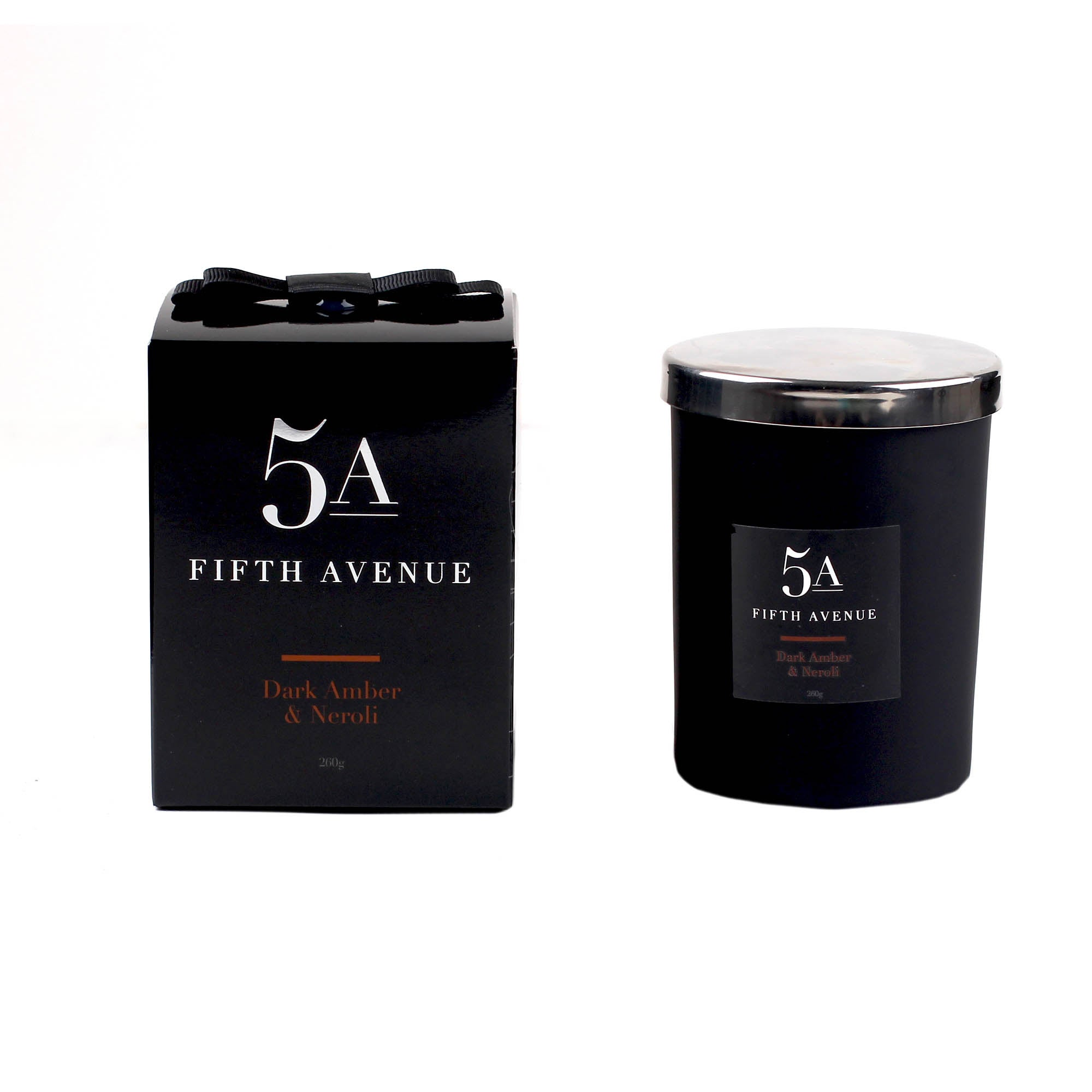 Click to view product details and reviews for 5a Fifth Avenue Neroli And Amber Candle Black.