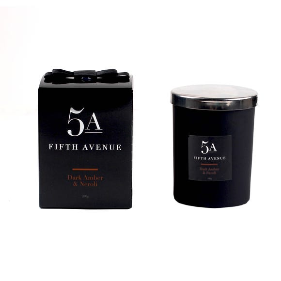 5A Fifth Avenue Neroli and Amber Candle Black