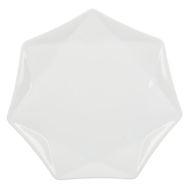 Elements White Quartz Dinner Plate White