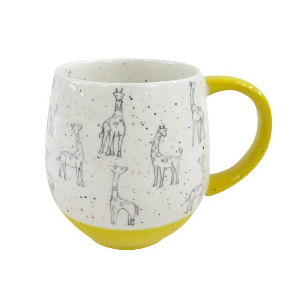 Yellow Giraffe Mug Yellow