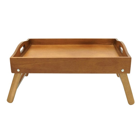 Wooden Acacia Bed Tray Brown