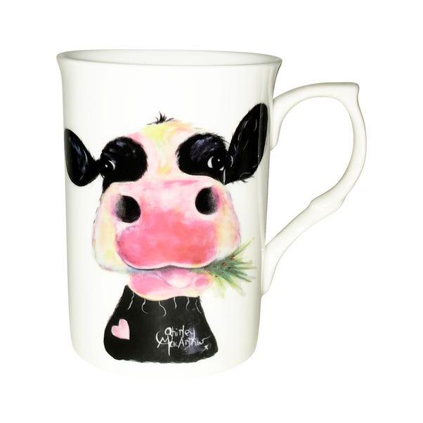 Hurley Burley Cow Mug White
