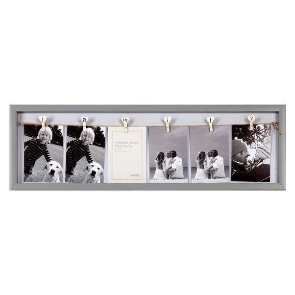 Family Peg Photo Frame Grey