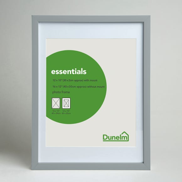 "Essentials Photo Frame 12"" x 10"" (30cm x 25cm) Grey"