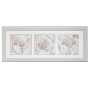 Triple Floral Framed Print