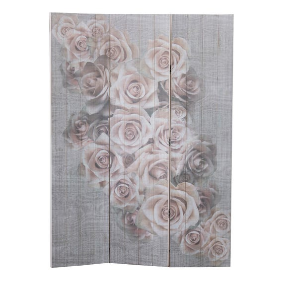 Maison Francaise Floral Wooden Screen Multi Coloured