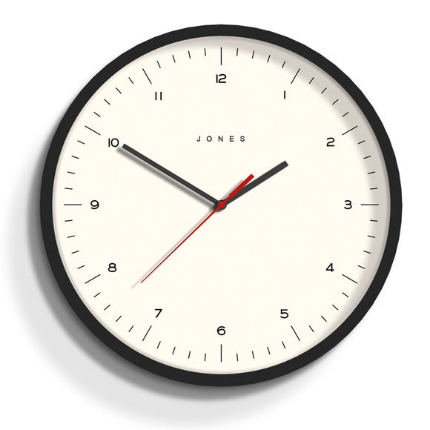 Jones Spartacus 30cm Wall Clock Charcoal Charcoal (Grey)
