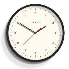 Jones Spartacus 30cm Wall Clock Black