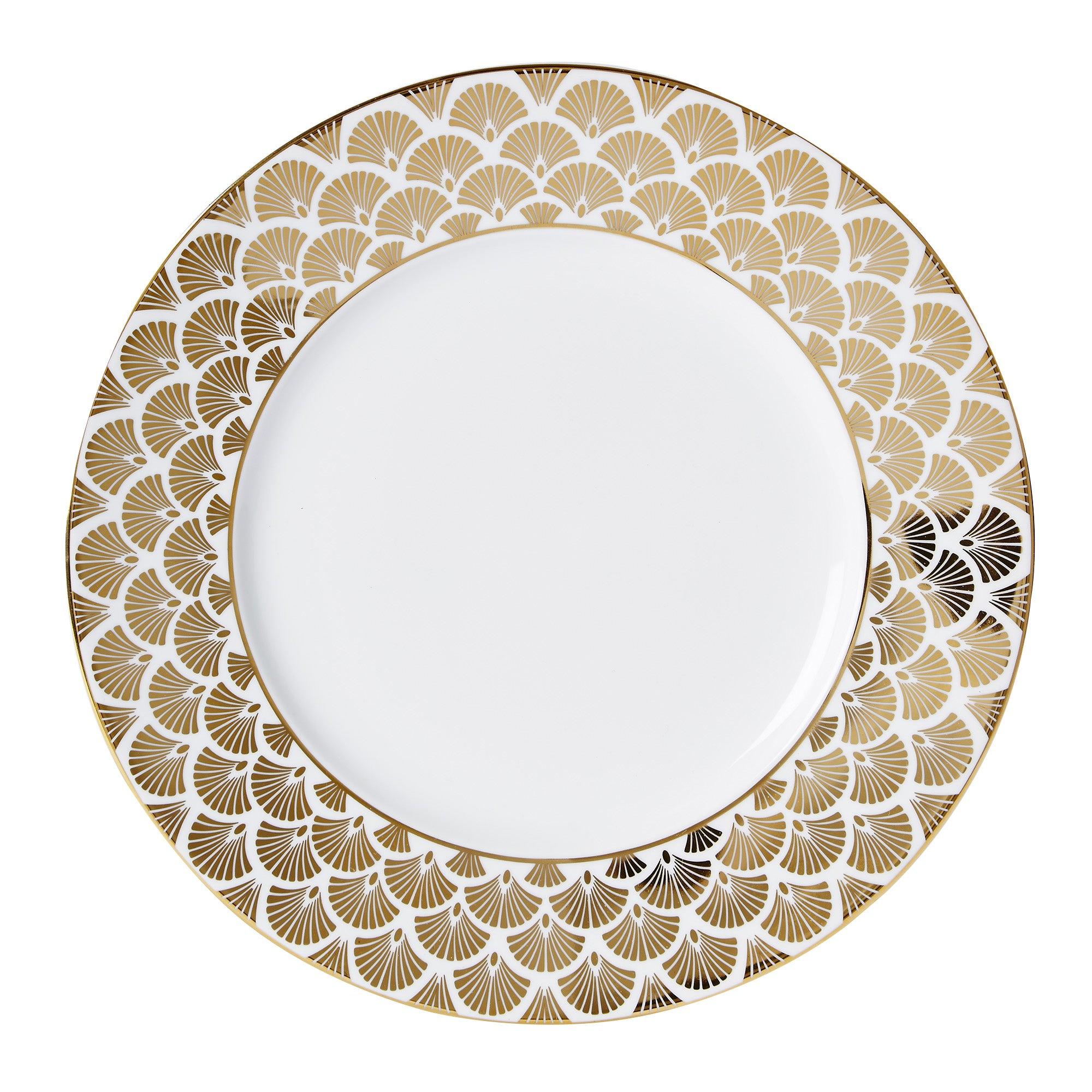 5A Fifth Avenue Bergen Gold Dinner Plate Gold