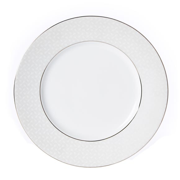 5A Fifth Avenue Grace Silver Dinner Plate White
