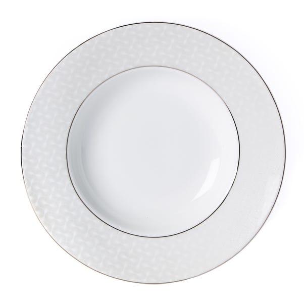 5A Fifth Avenue Grace Silver Side Plate White