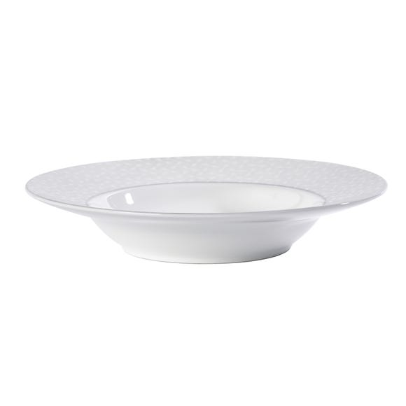 5A Fifth Avenue Grace Silver Soup Bowl White