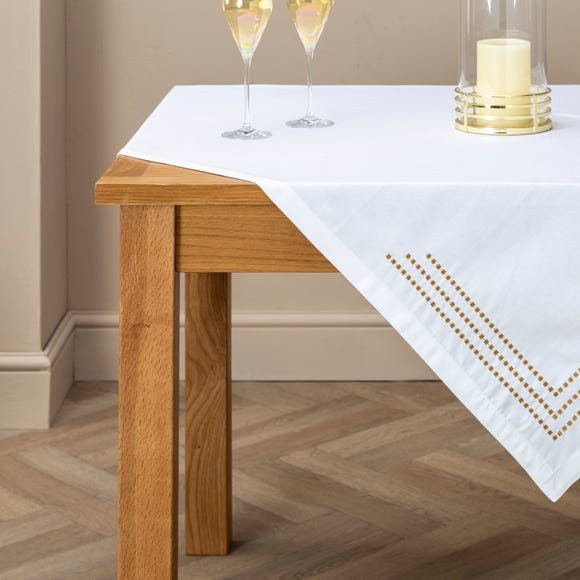5A Fifth Avenue White Large Tablecloth White