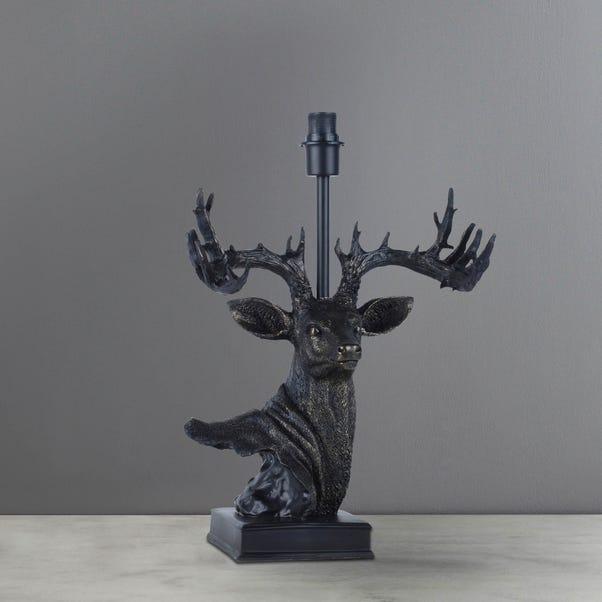 Masdar Stag Resin Bronze Table Lamp Base Bronze