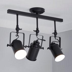 Healy 3 Light Black Spotlight Bar