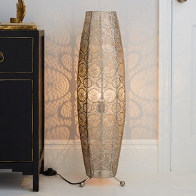Manila Moroccan 85cm Chrome Floor Lamp