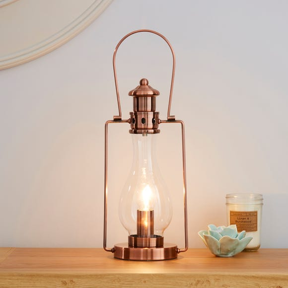 Horse Lantern Copper Table Lamp Copper