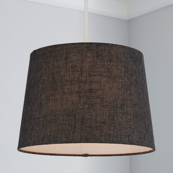 Vermont 30cm Tapered Charcoal Shade Charcoal