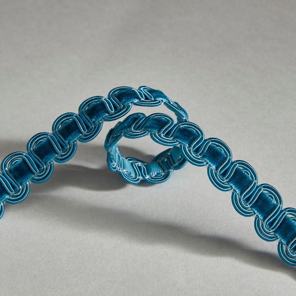 Teal Velvet Wave Braid Trim