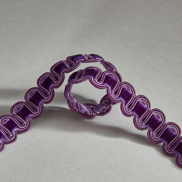 Purple Velvet Wave Braid Trim