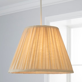 Henley Pleated 35cm Tapered Natural Shade